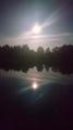 Super Księżyc - pełnia na wodzie o 4:00 rano